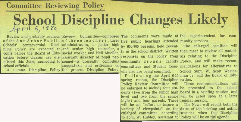 School Discipline Changes Likely image