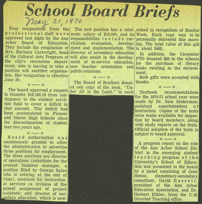 School Board Briefs image