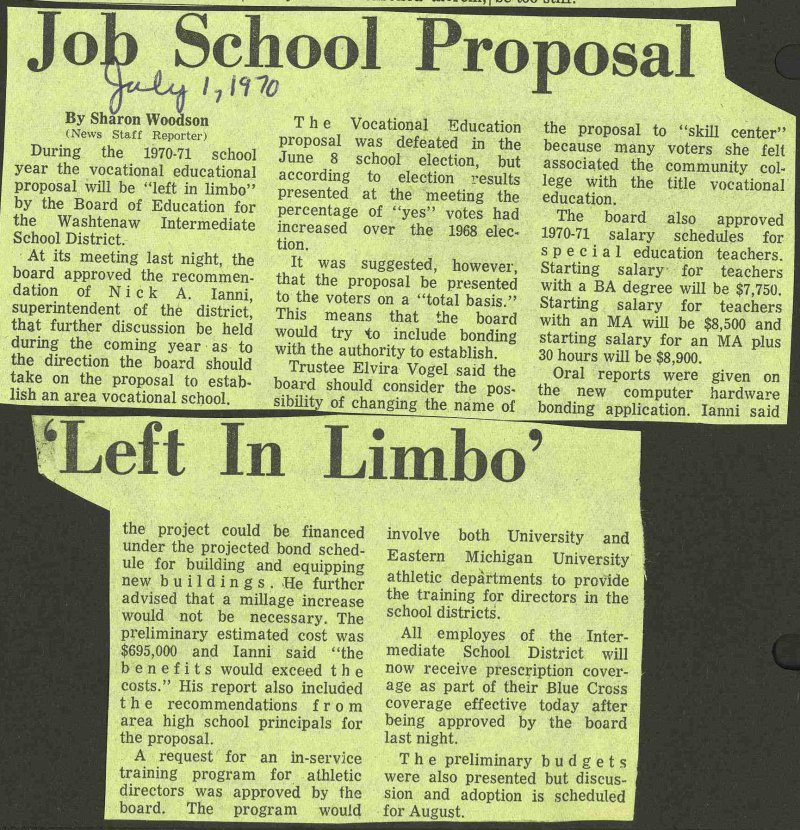 Job School Proposal 'left In Limbo' image
