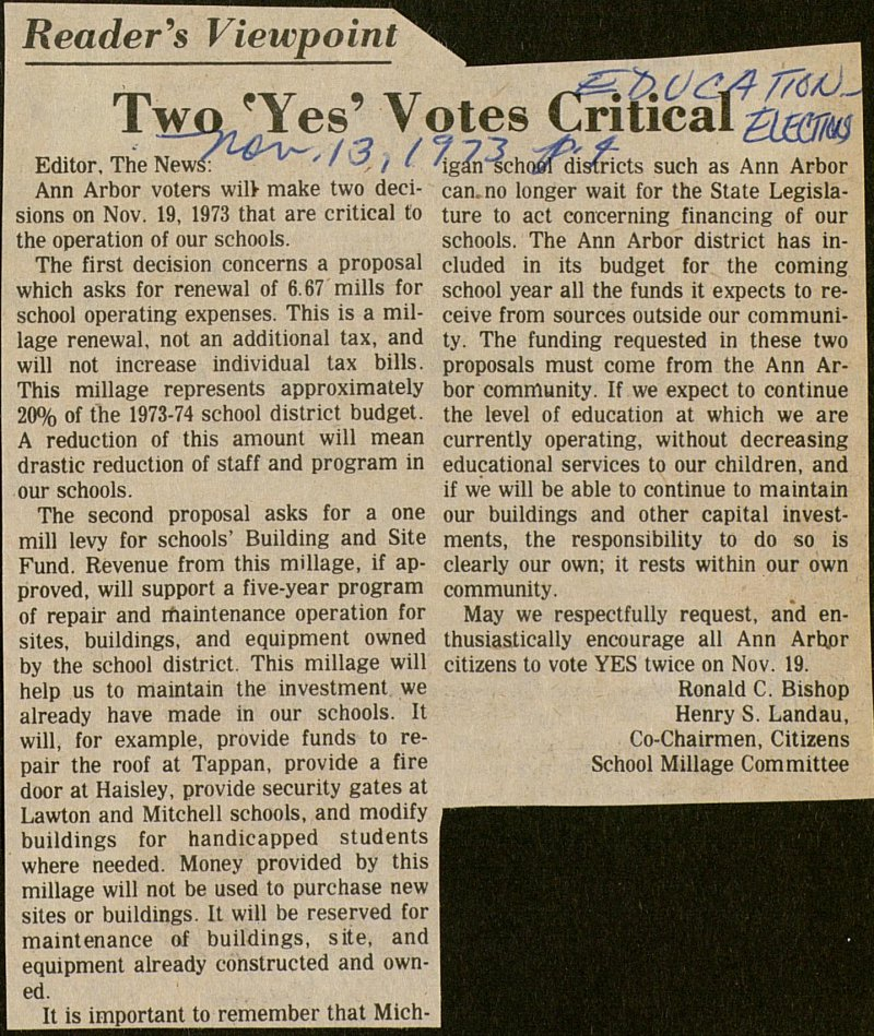 Two 'yes' Votes Critical image