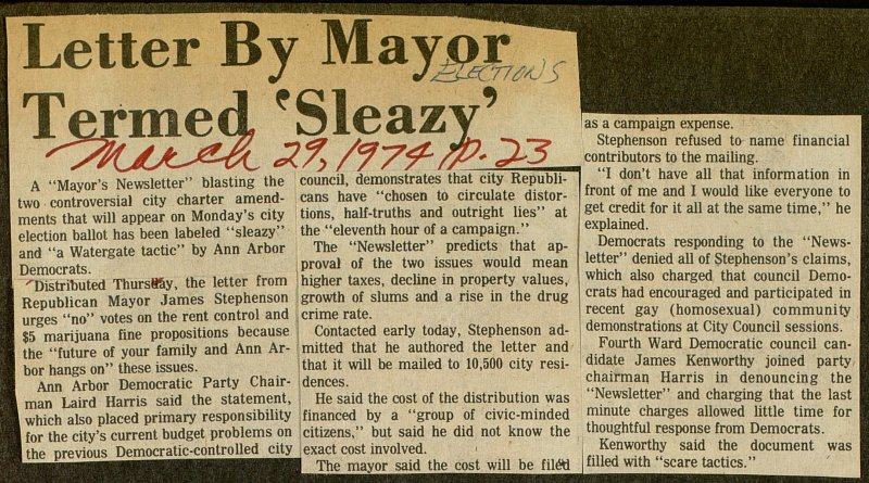 Letter By Mayor Termed 'Sleazy' image