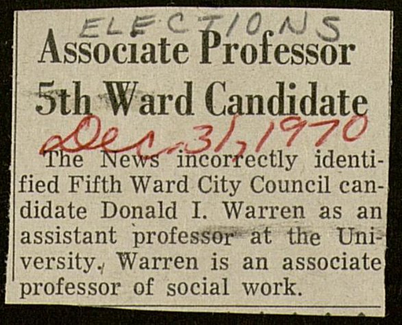Associate Professor 5th Ward Candidate image
