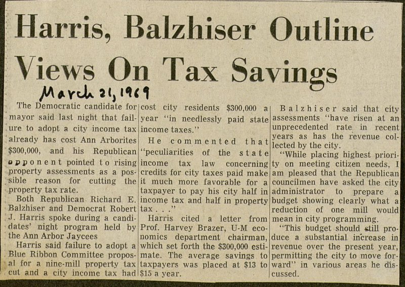 Harris, Balzhiser Outline Views On Tax Savings image