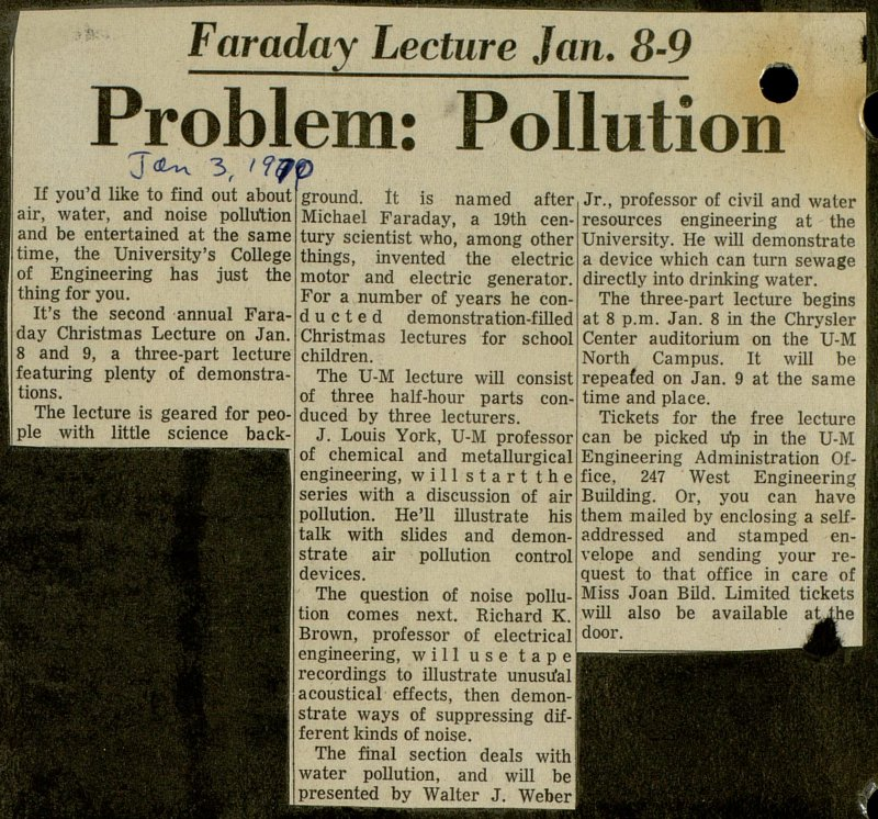 Problem: Pollution image