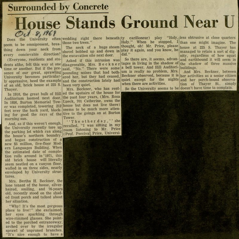 House Stands Ground Near U image