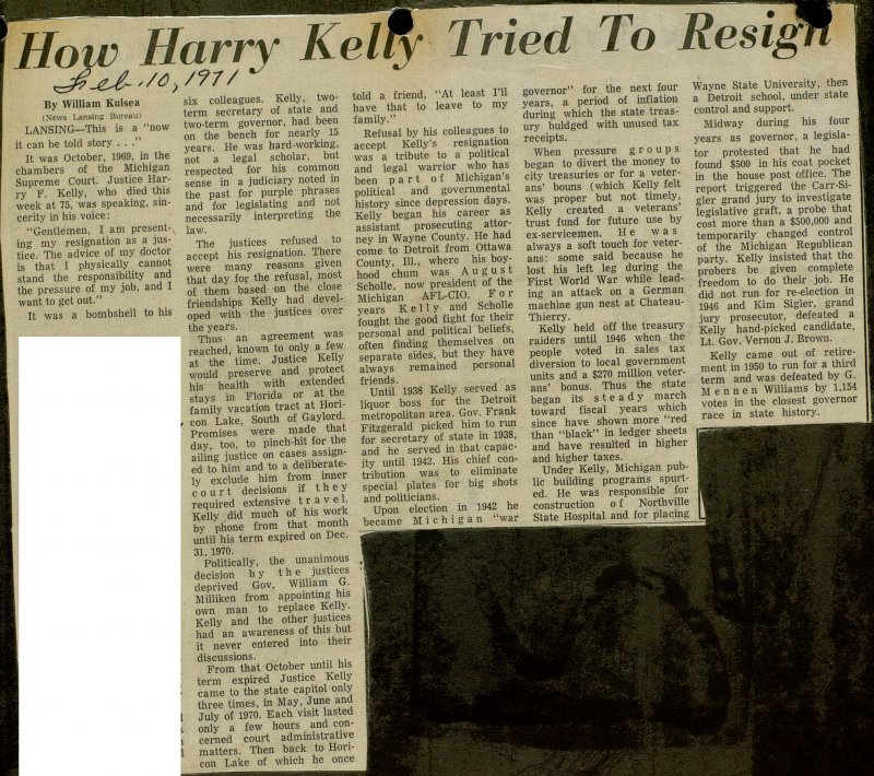 How Harry Kelly Tried To Resign image
