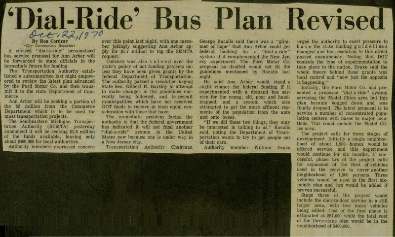'dial-ride' Bus Plan Revised image