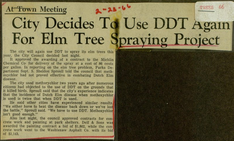 City Decides To Use Ddt Again For Elm Tree Spraying Project image