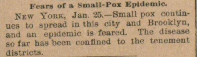 Fears Of A Small-pox Epidemic image