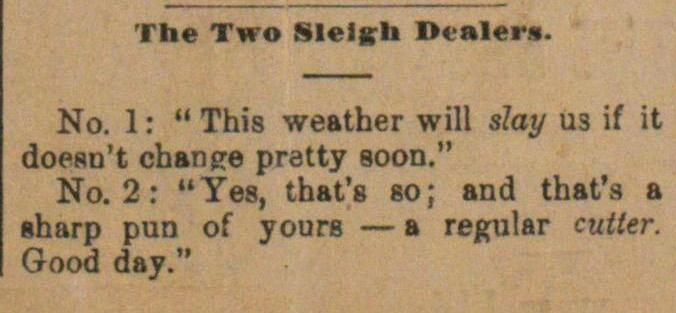 The Two Sleigh Dealers image