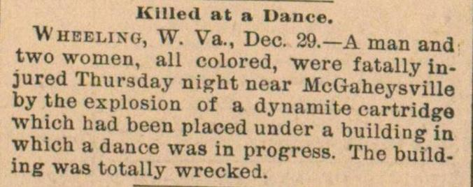 Killed At A Dance image