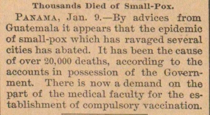 Thousands Died Of Small-pox image