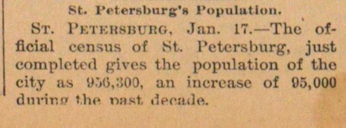 St. Petersburg's Population image