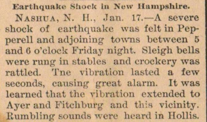 Earthquake Shock In New Hampshire image