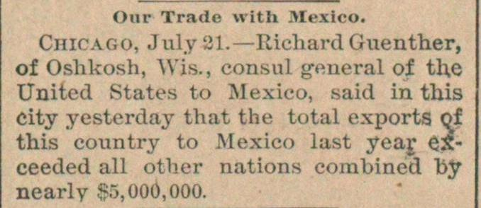 Our Trade With Mexico image