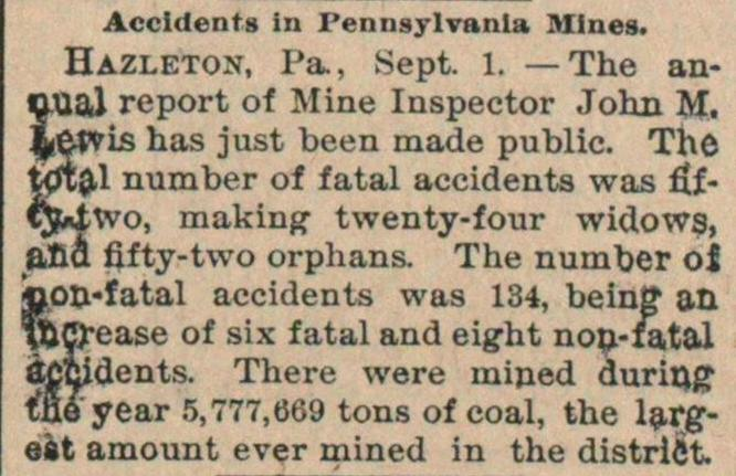 Accidents In Pennsylvania Mines image