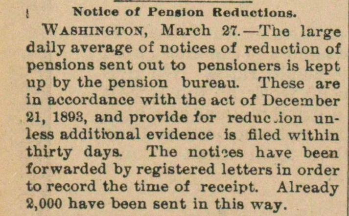Notice Of Pension Reductions image