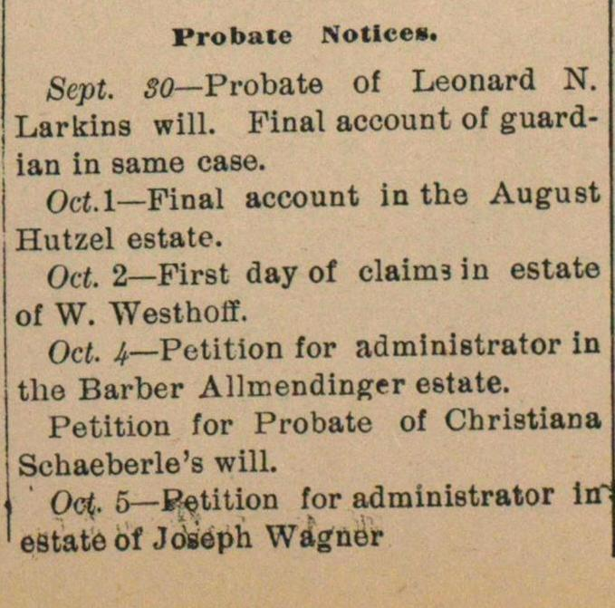 Probate Notices image
