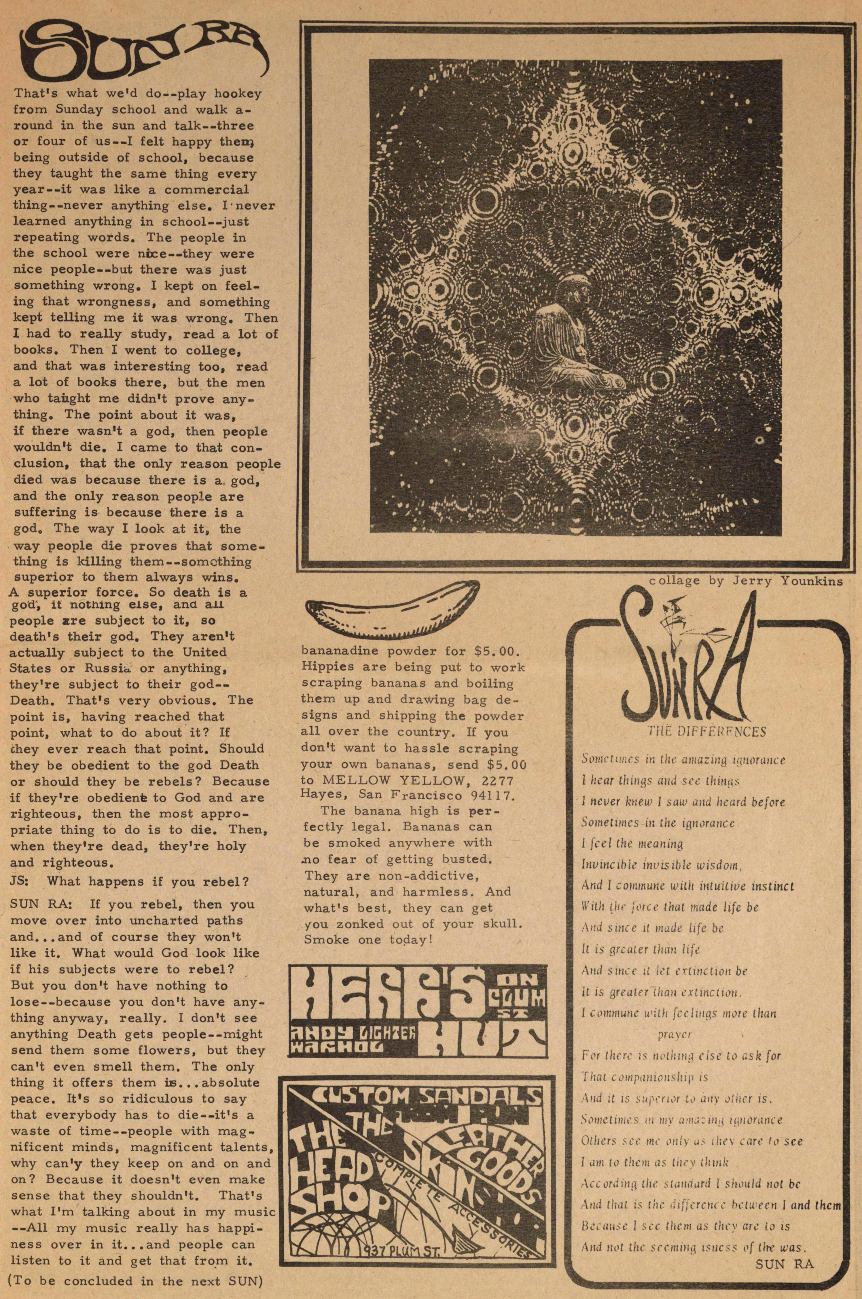 Sun Ra: An Interview: Part One: Collision of the Suns image