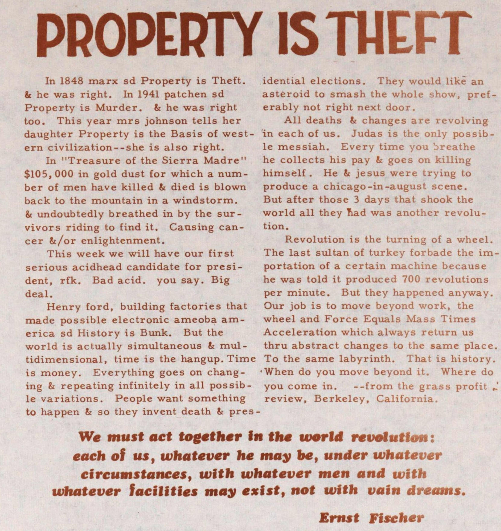 Property Is Theft image