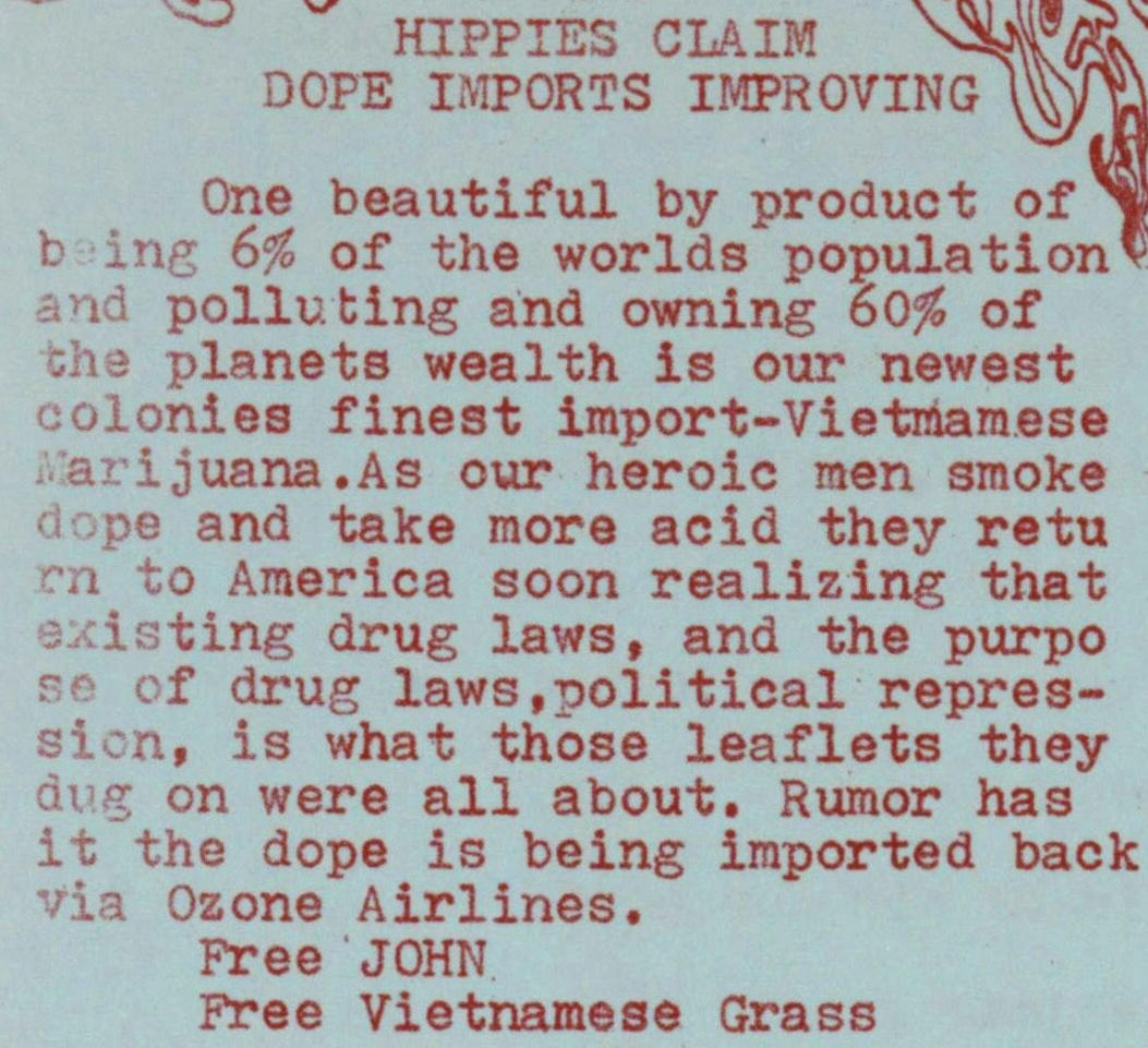 Hippies Claim Dope Imports Improving image
