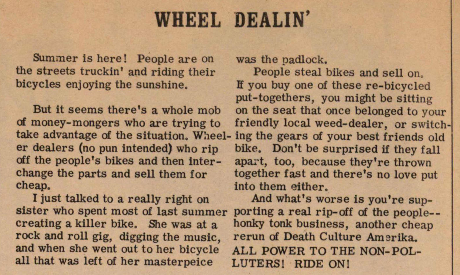 Wheel Dealin' image