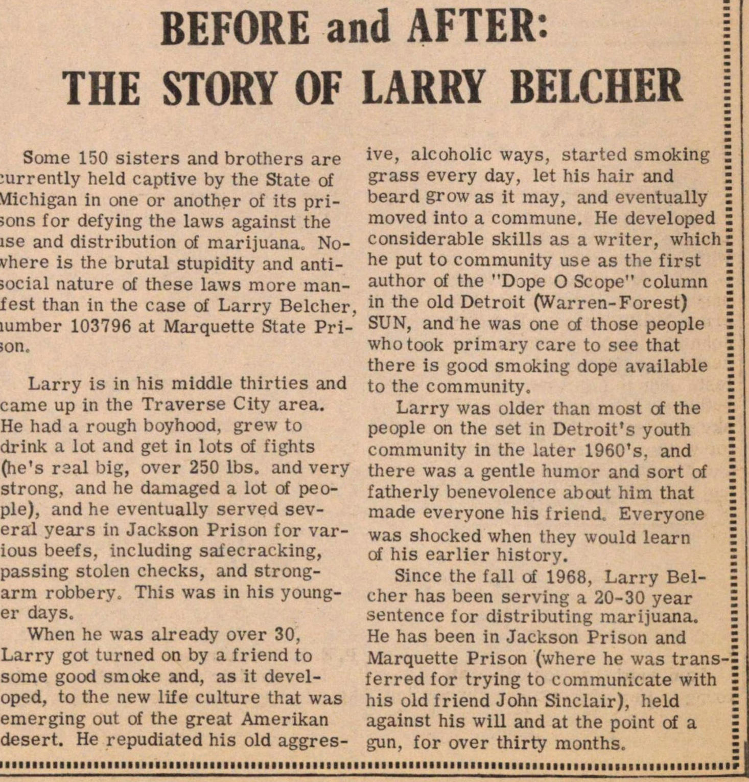 Before And After: The Story Of Larry Belcher image