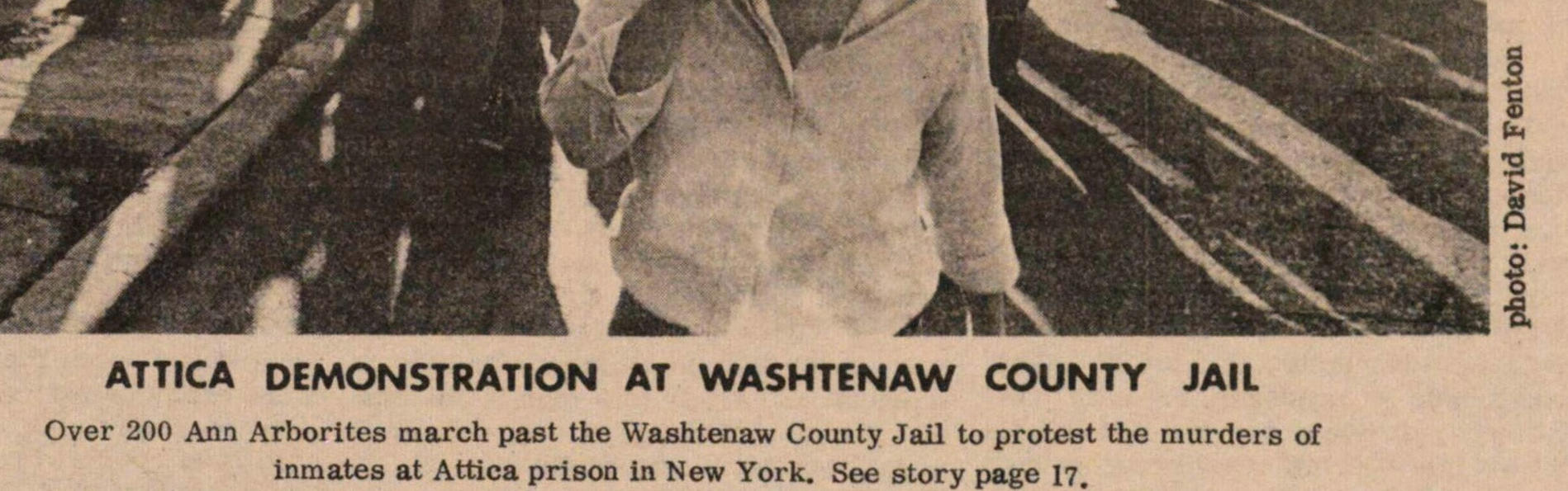 Attica Demonstration At Washtenaw County Jail image