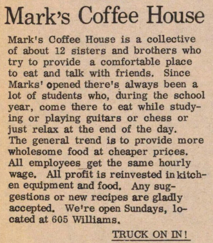 Mark's Coffee House image