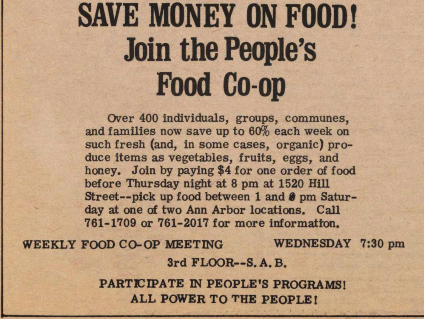 Save Money On Food! Join The People's Food Co-op image
