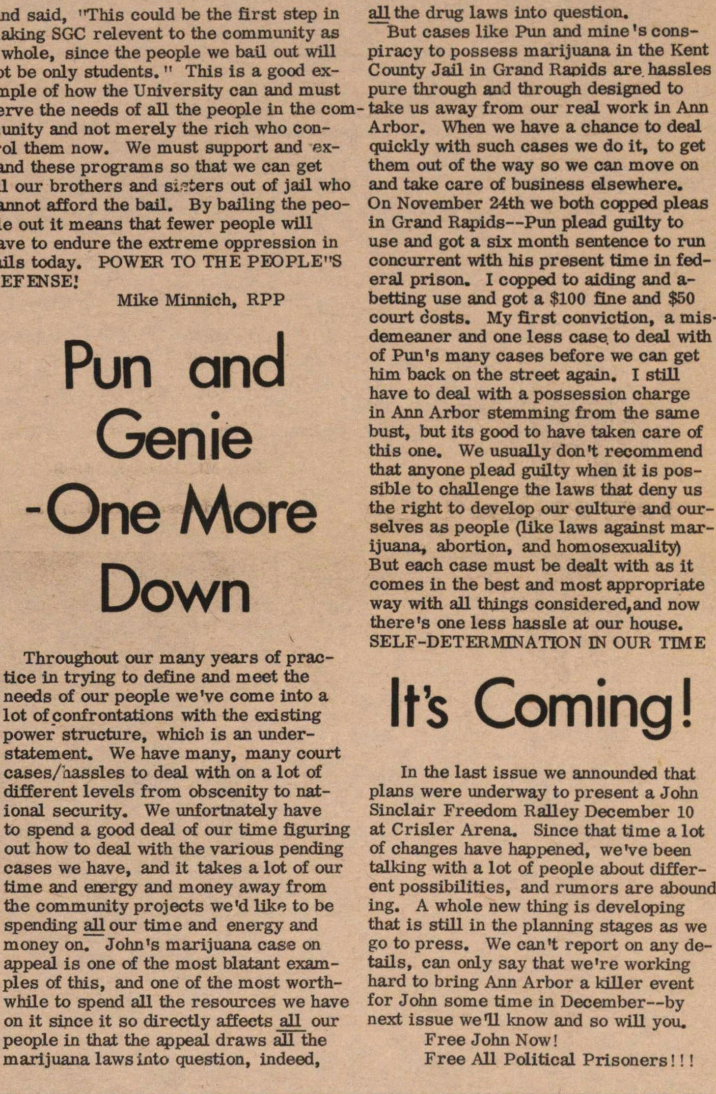 Pun And Genie-one More Down image