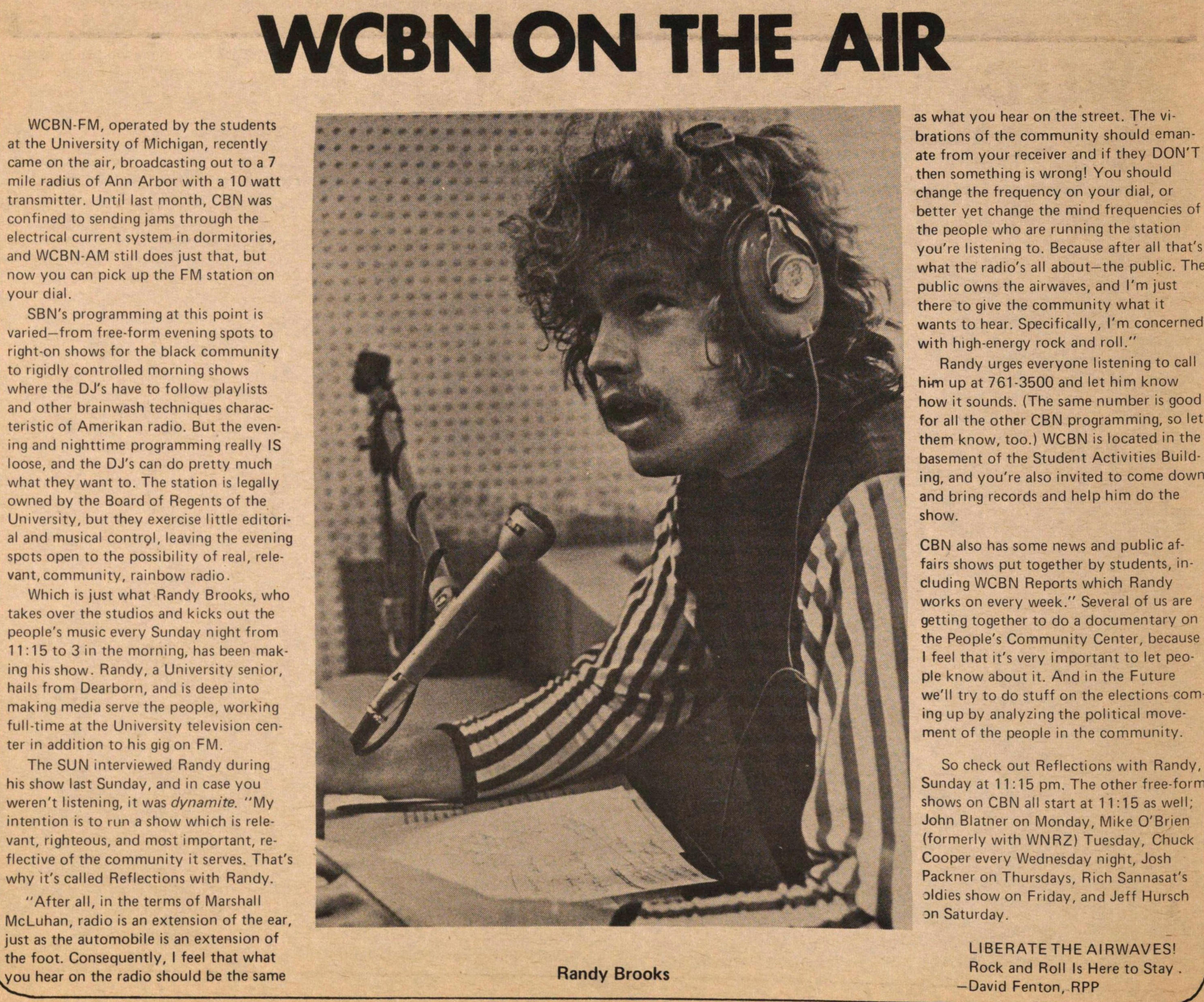 Wcbn On The Air image