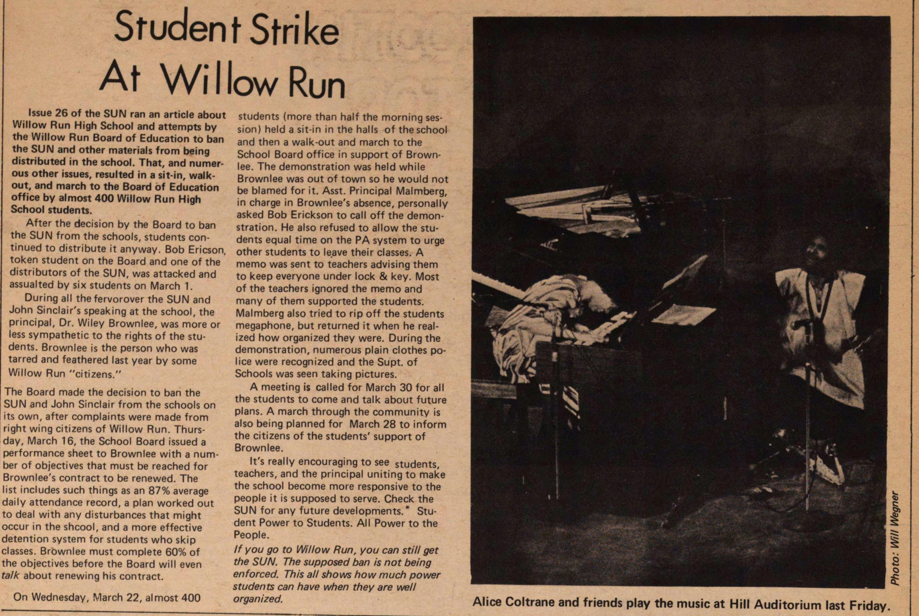 Student Strike At Willow Run image