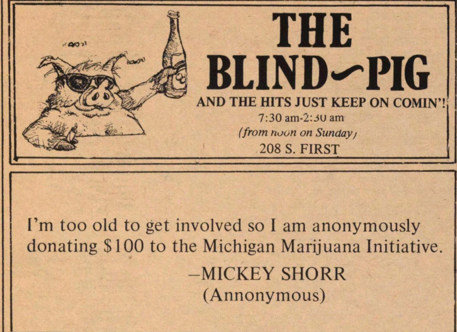 The Blind--pig image