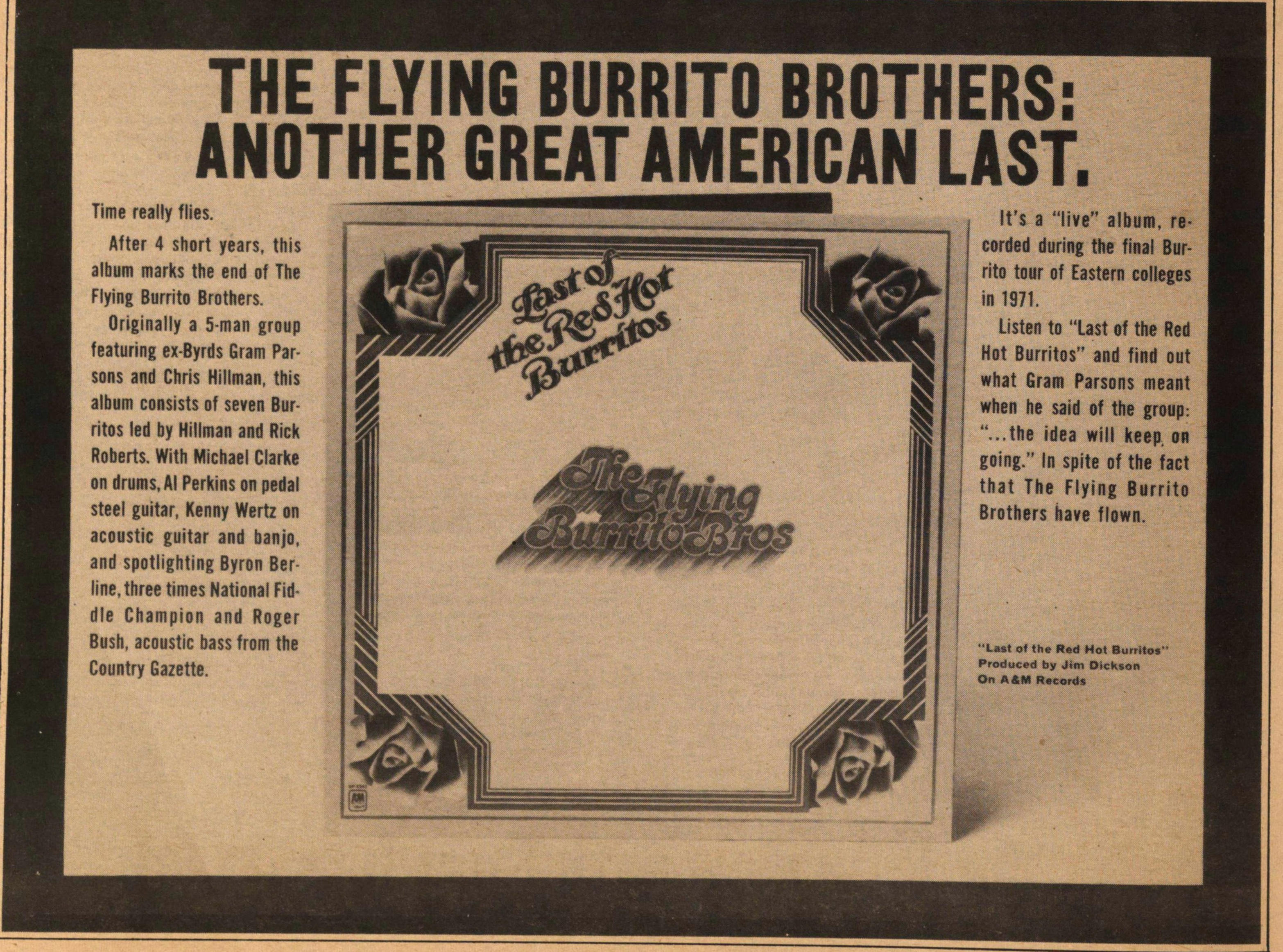 The Flying Burrito Brothers: Another Great American Last image