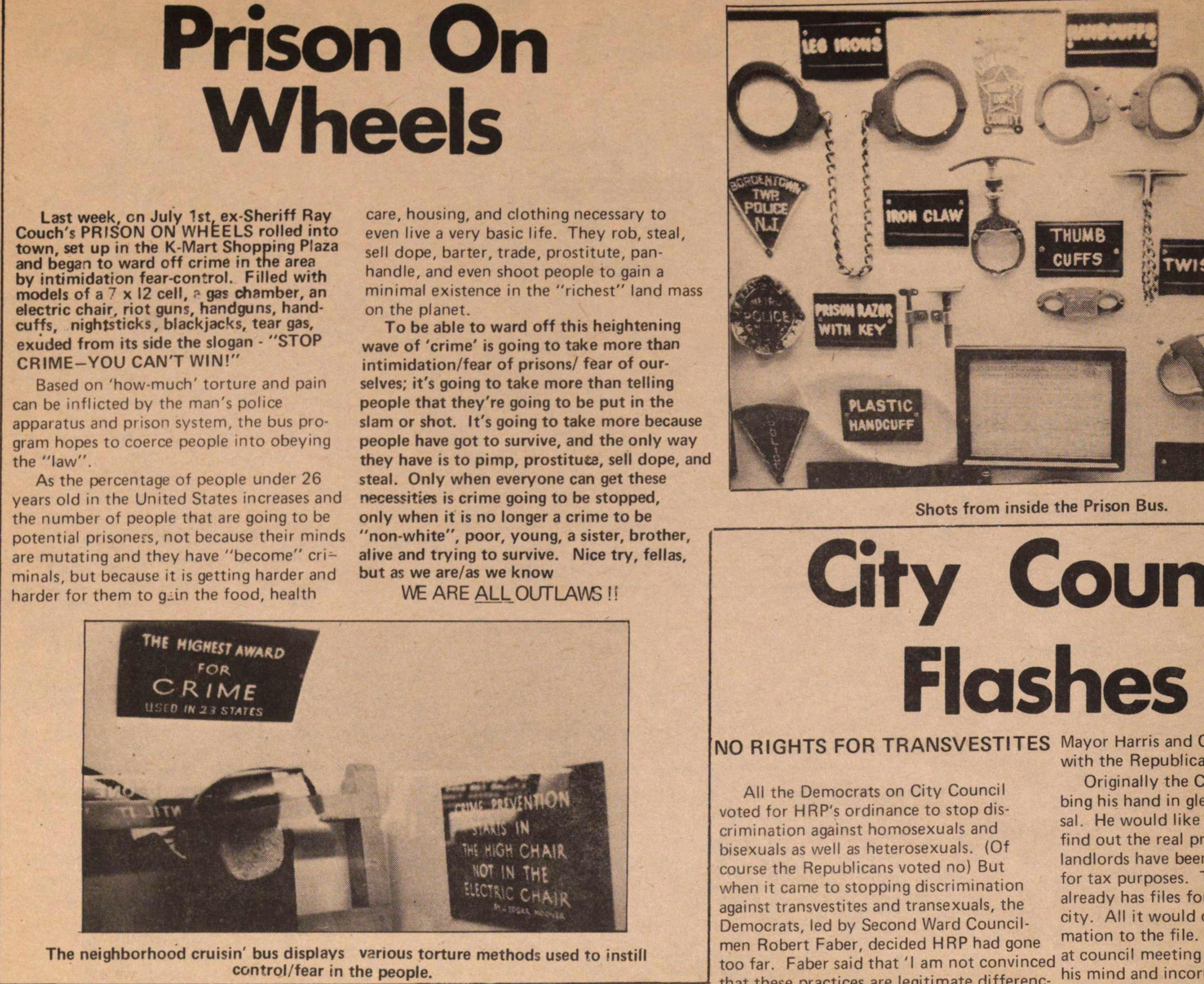 Prison On Wheels image