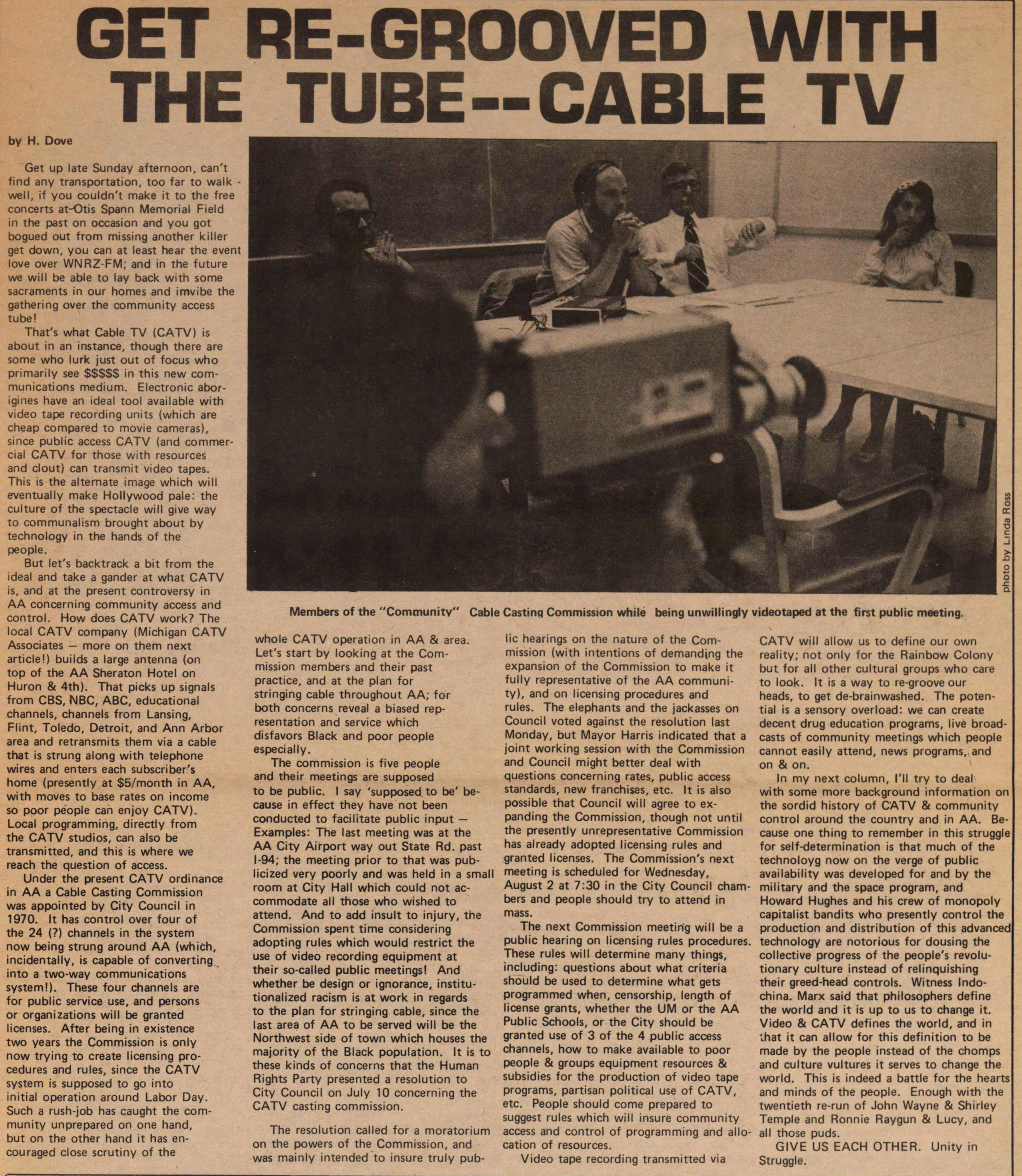Get Re-grooved With The Tube--cable Tv image
