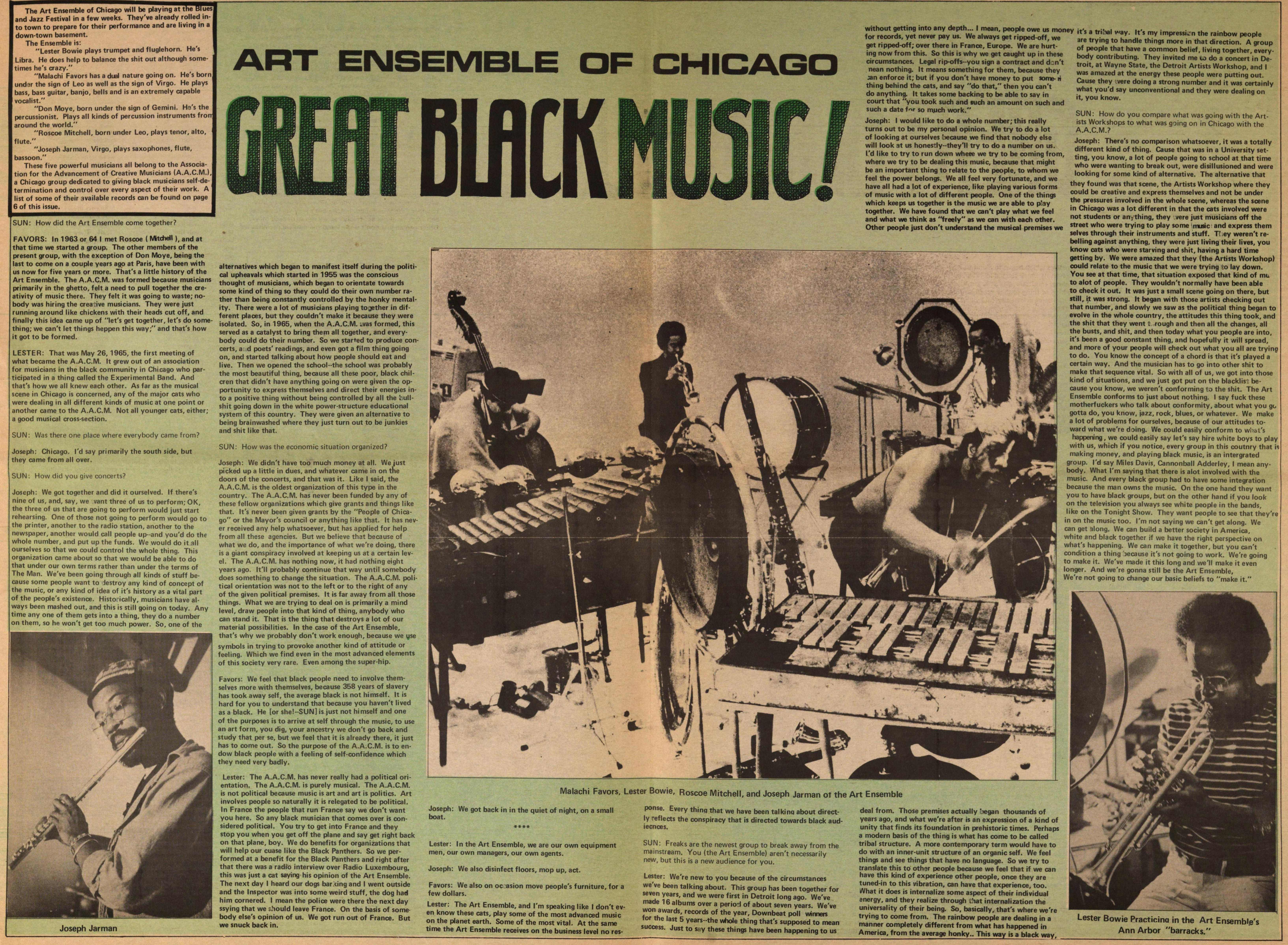 Art Ensemble Of Chicago Great Black Music! image