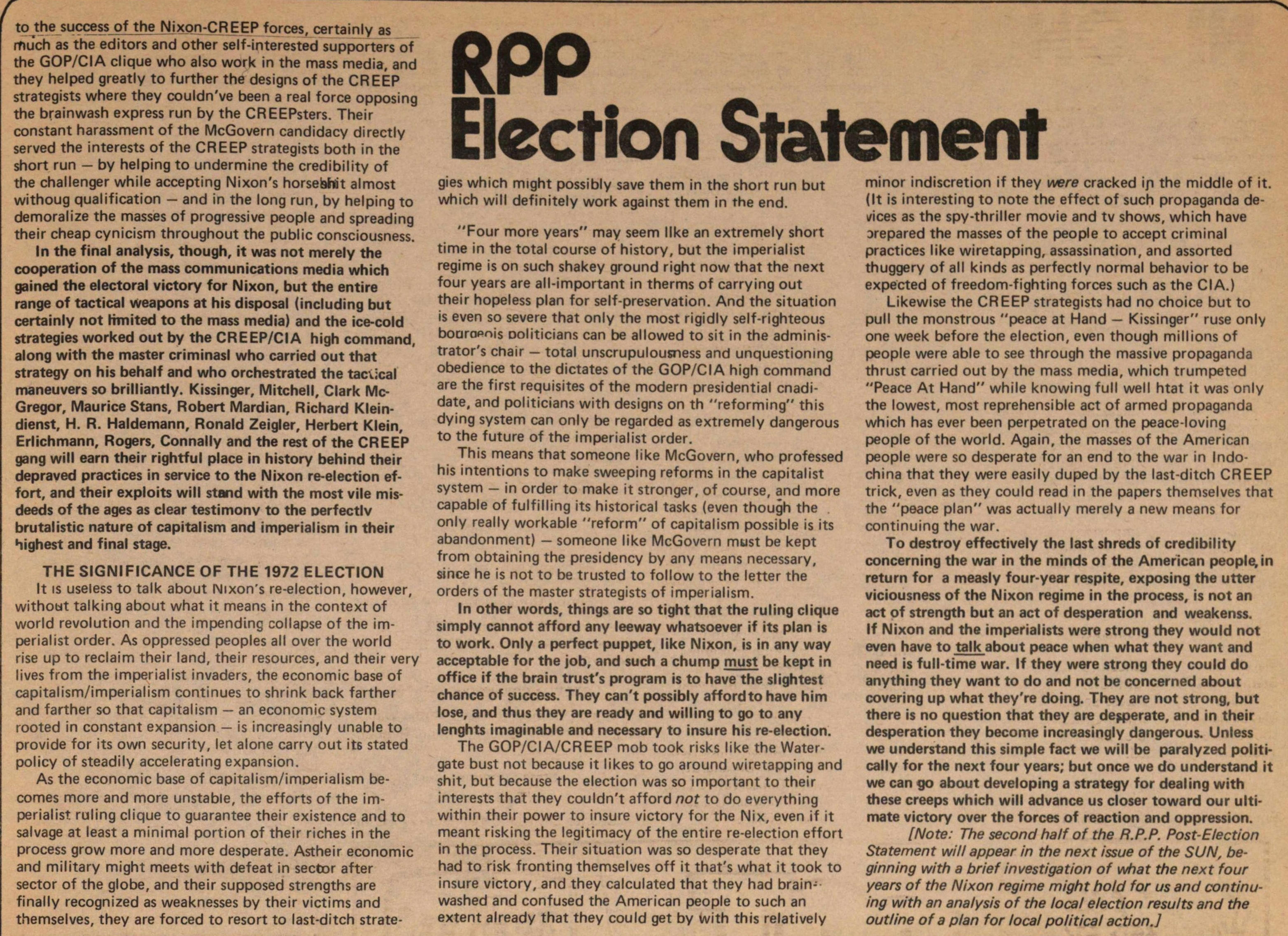 Rpp Election Statement image