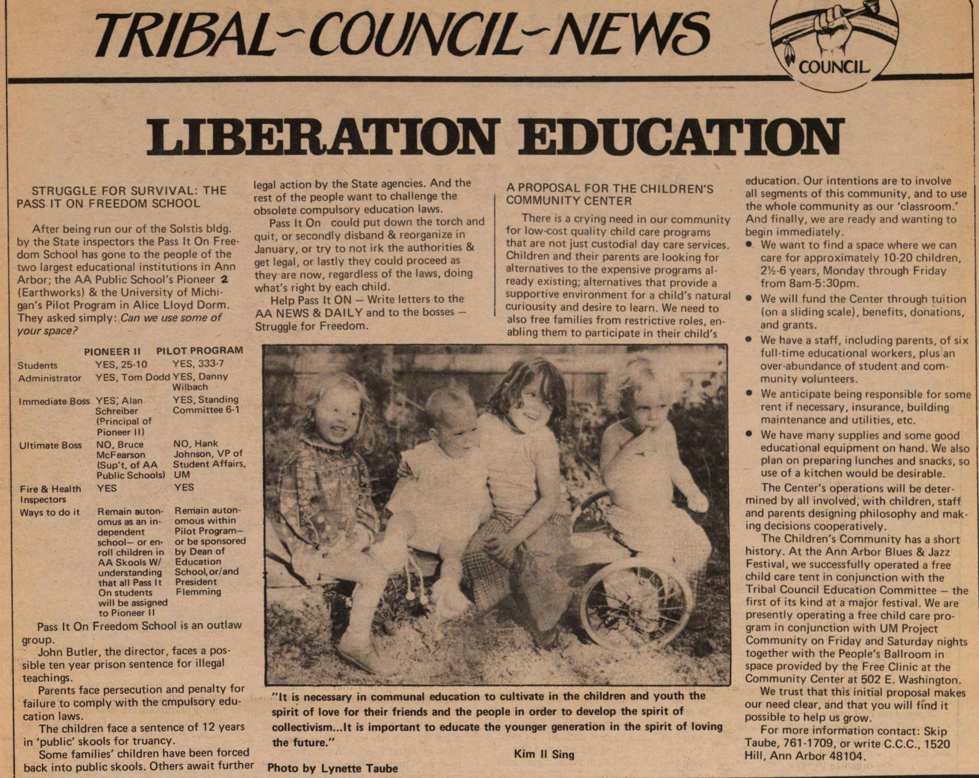Tribal-Council-News Liberation Education image