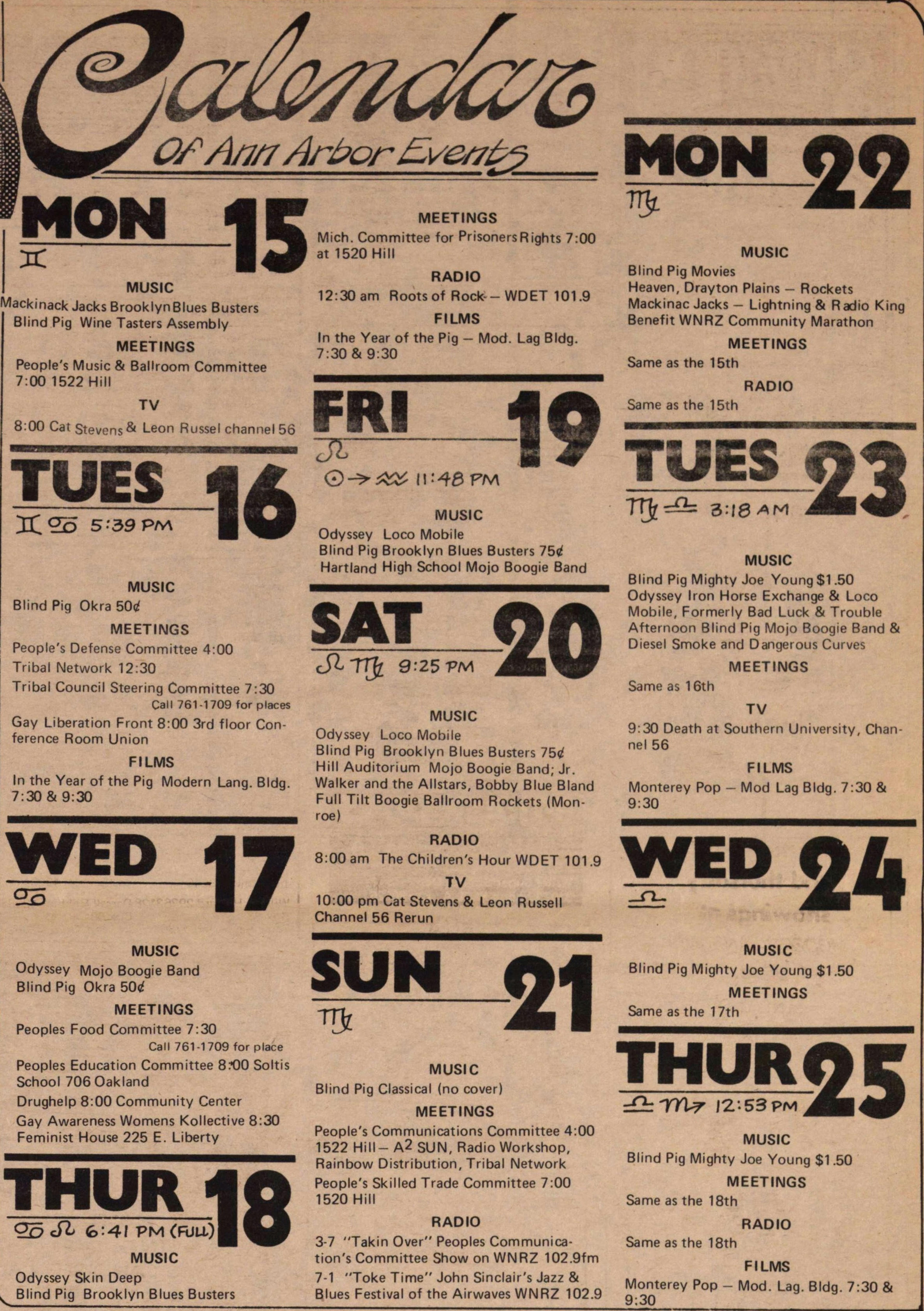 Calendar Of Ann Arbor Events image
