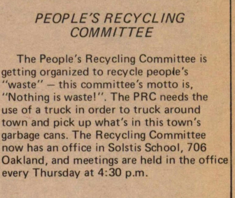People's Recycling Committee image