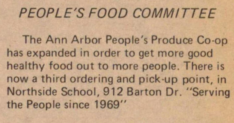 People's Food Committee image