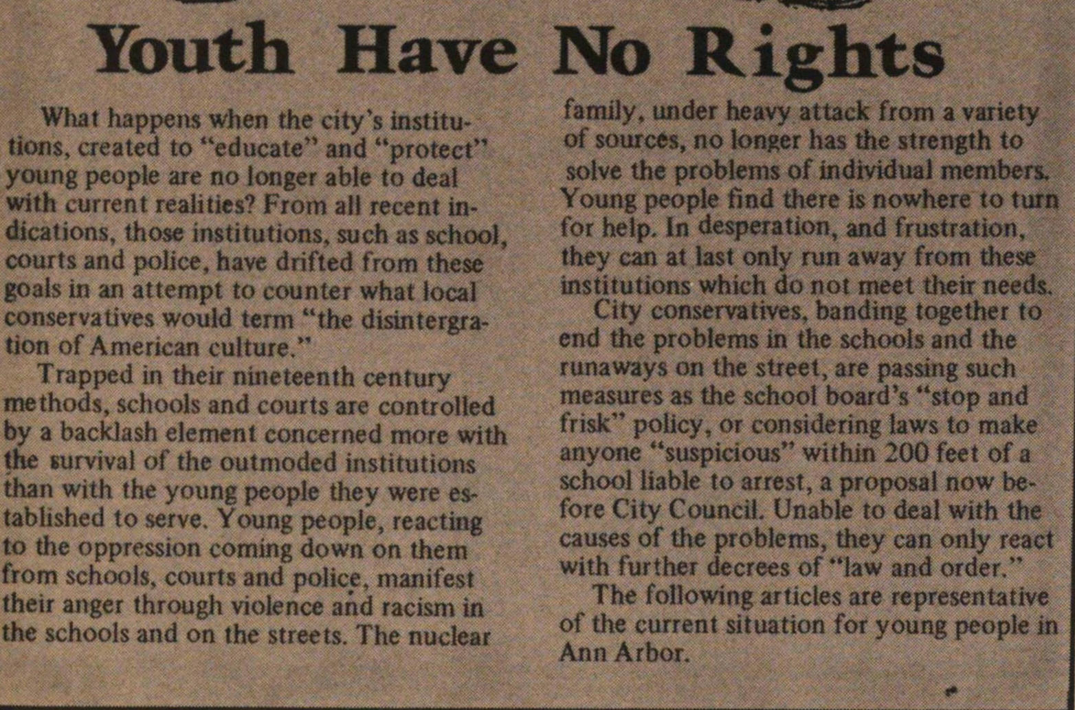 Youth Have No Rights image