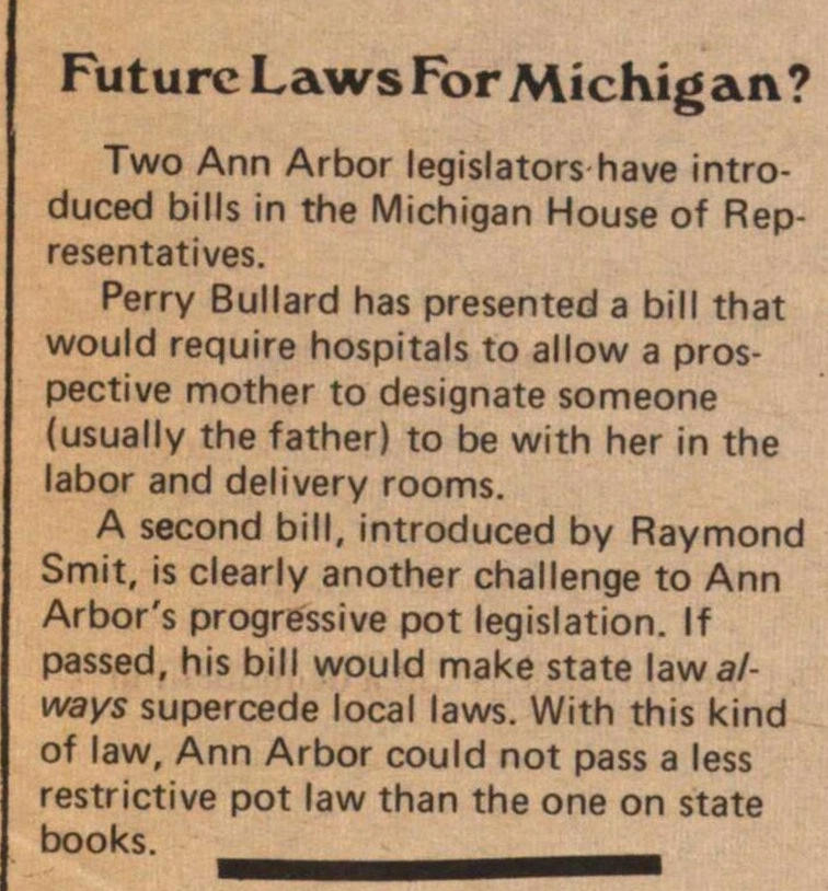Future Laws For Michigan? image