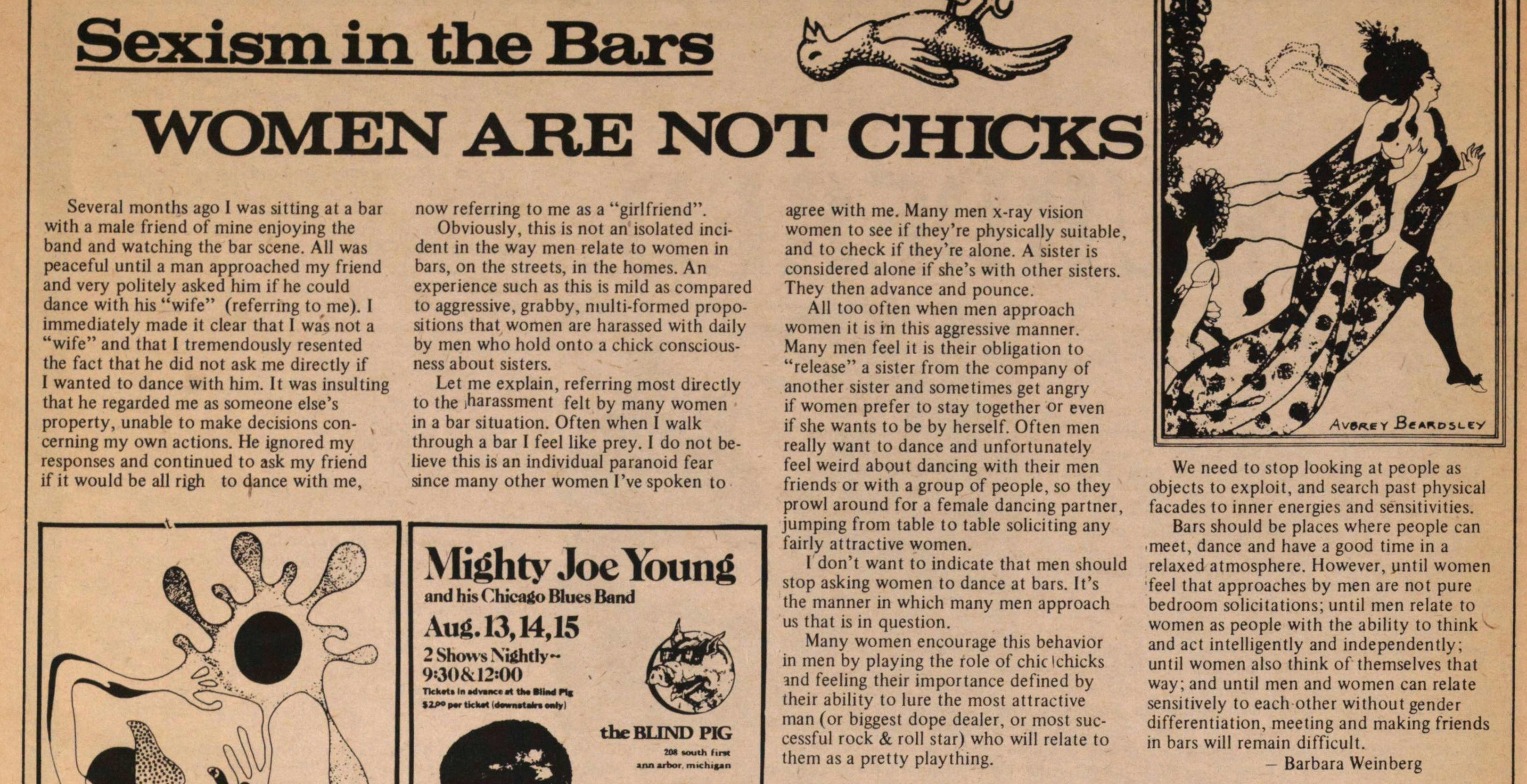 Sexism In The Bars image