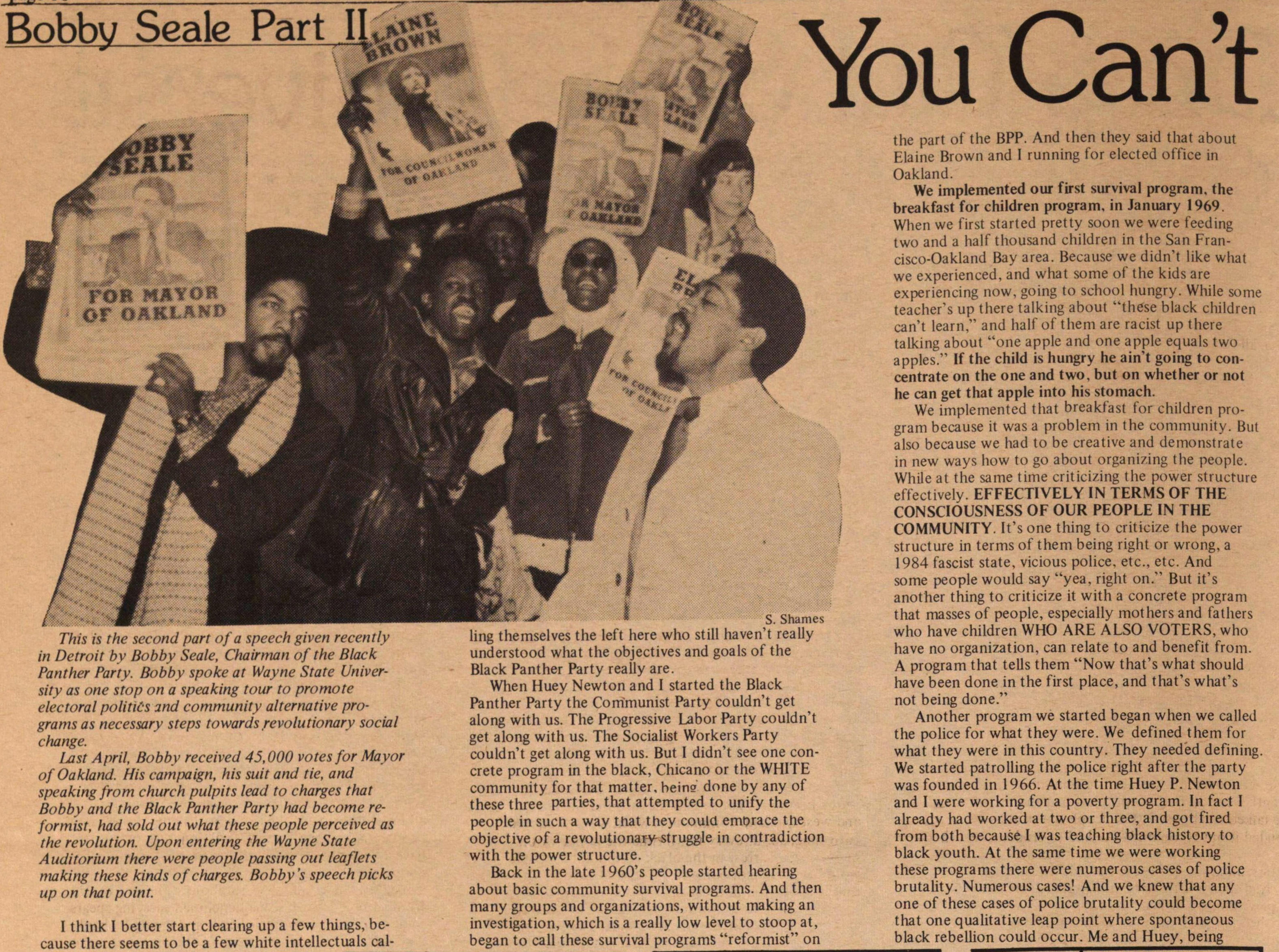 Bobby Seale Part Ii image