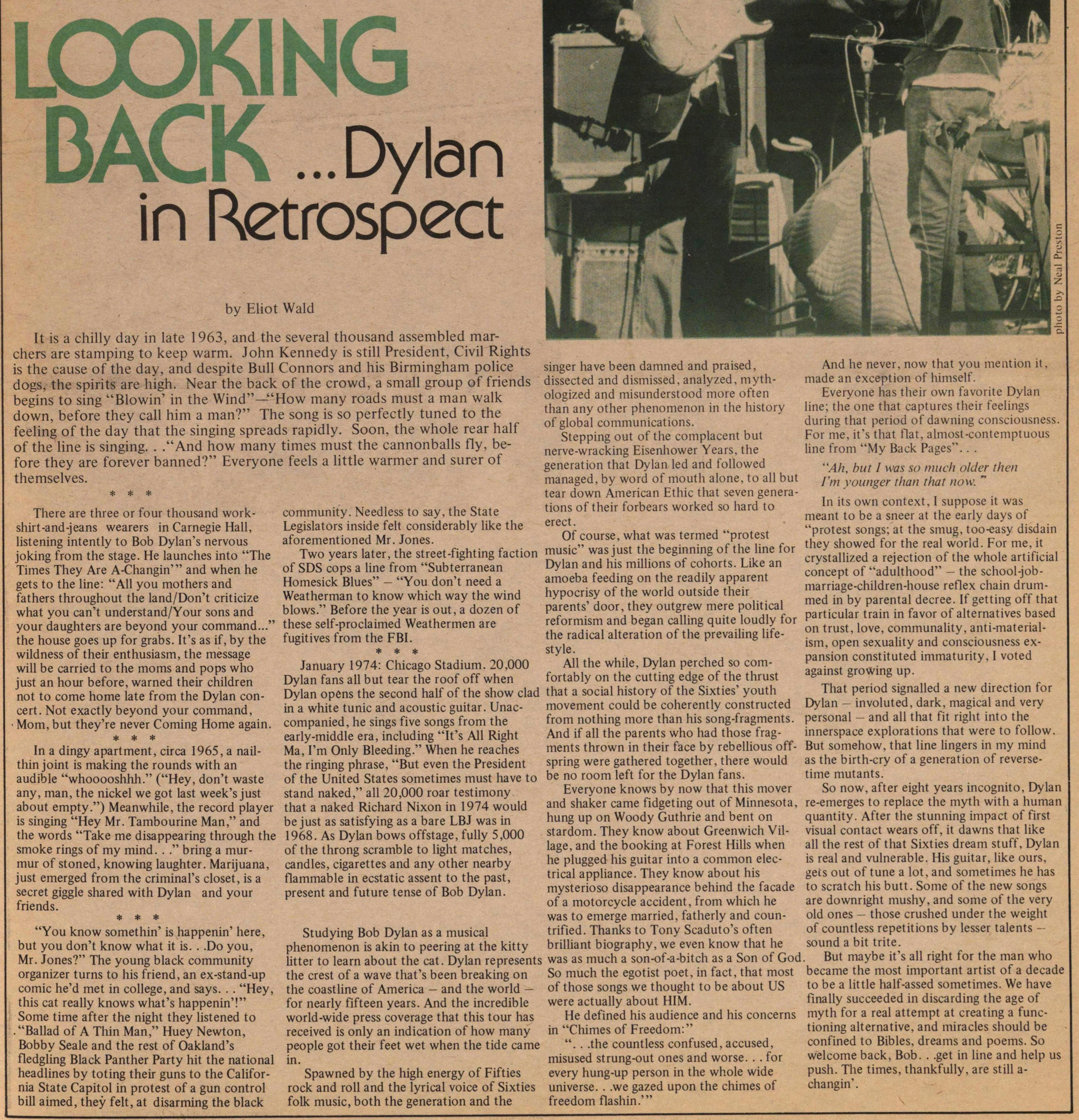Looking Back ...dylan In Retrospect image