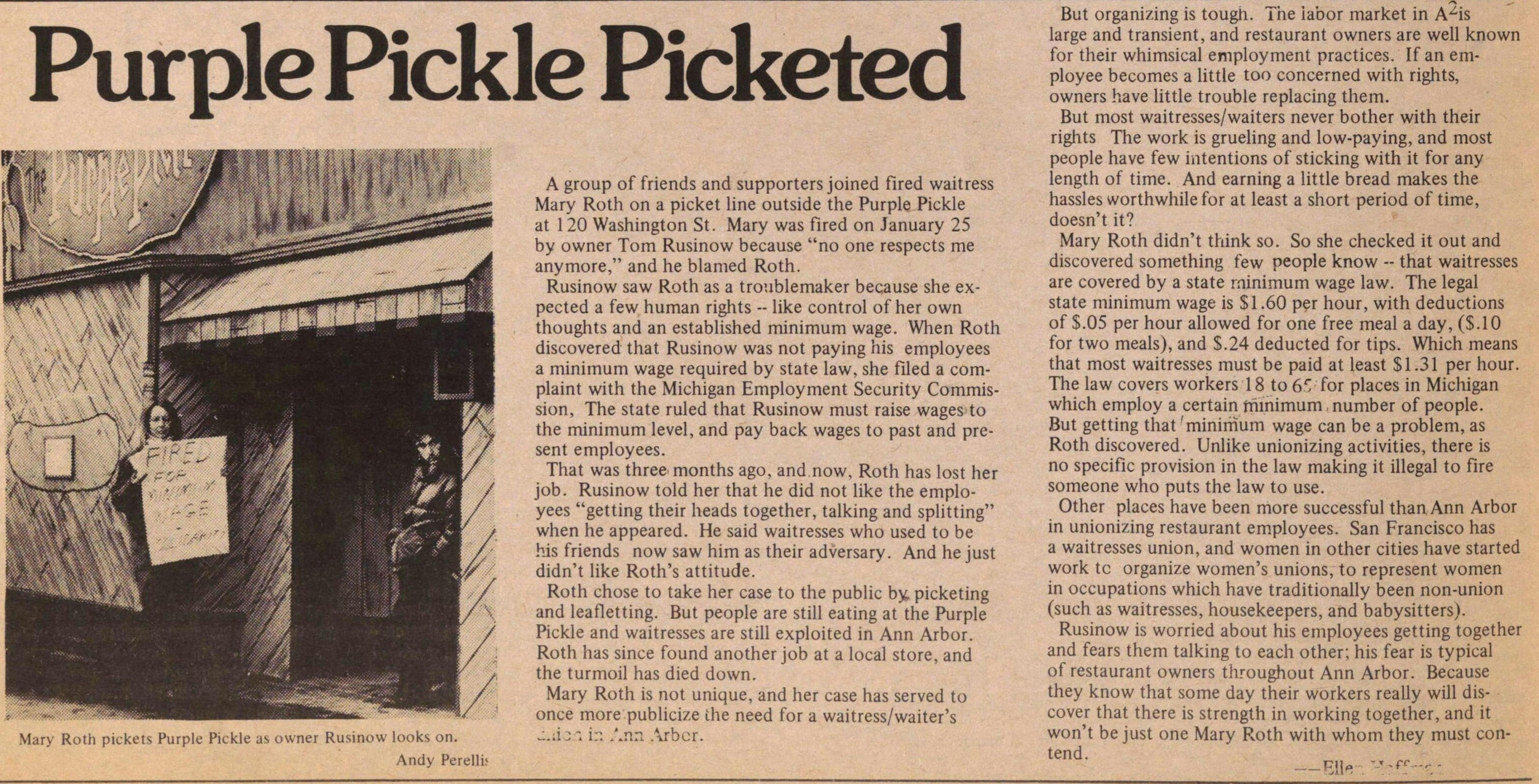 Purple Pickle Picketed image