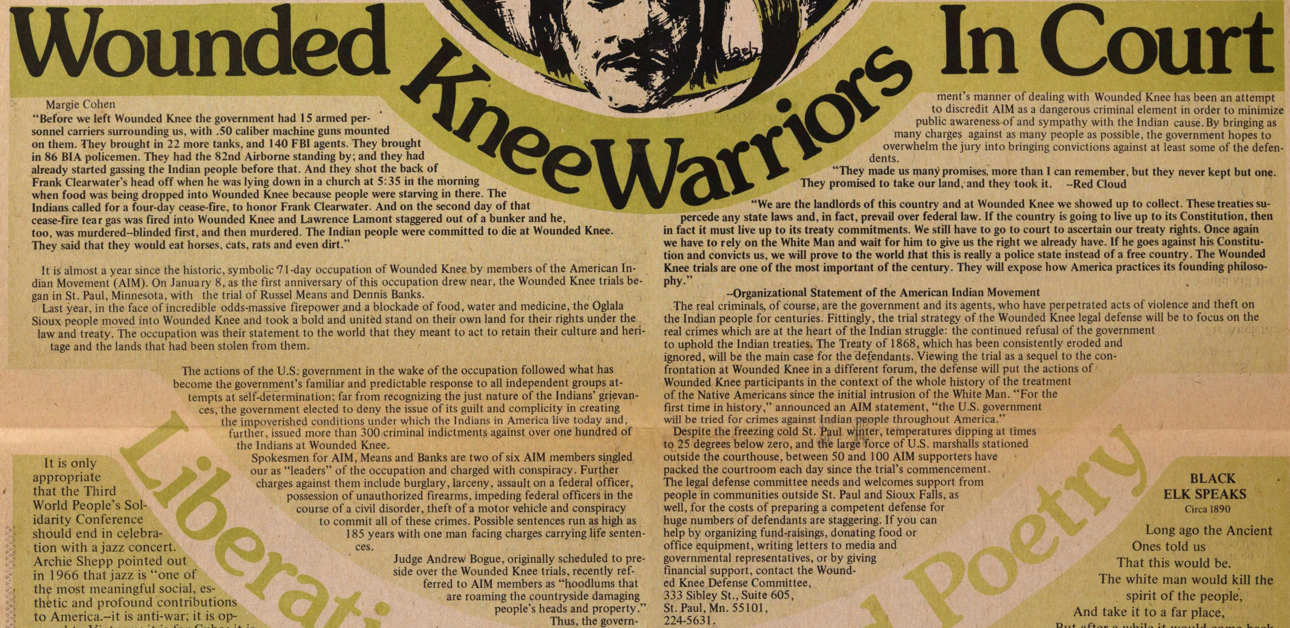 Wounded Knee Warriors In Court image